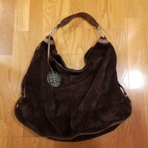 Juicy Couture Large Chocolate brown suede hobo